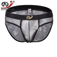 Wholesale Army Men Bulges - 2016 WJ mens bulge enhancing underwear mens nylon briefs underwear mesh see through men brief funny mens briefs 4009-SJ