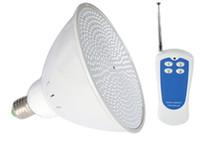 su altı led ampuller toptan satış-RGB Havuz Işık LED AC 12 V E27 Sualtı Ampul 18 W 24 W 35 W Dış Aydınlatma ile Par56 Lampada için Wattroor IP68 Gölet Lambası Uzaktan denetleyici