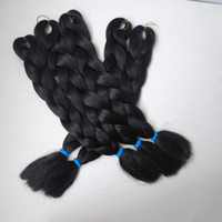 Wholesale Coffee Extension - 100% Kanekalon Jumbo Braid Hair 24 Inch Synthetic Brading Hair Extension Kanekalon Black coffee Color Braiding Hair T3903