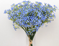 Wholesale Fake Green Plants - 9pcs lotGypsophila silk baby breath Artificial Fake Silk Flowers Plant Home Wedding Party Home Decoration