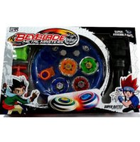 Wholesale Toy Tops For Sale - 10set Free shipping! Classic toys beyblade metal fusion spinning top gyroscope 4 beyblade for sale alloy gyro plate kit beyblade sets