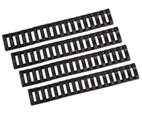Wholesale Quad Rail Ladder Covers - 4 Piece Set 17 Slots Ladder Rail Cover Quad Handguard with Picatinny Tactical Rubber Soft Rail Cover