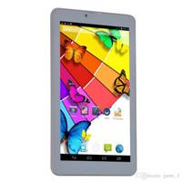 polegadas tablet desbloquear venda por atacado-7 Polegada Phablet Tablet 3G Telefone Dual Sim Card Desbloqueado GPS Bluetooth MTK6572 Chamada Dual Core GSM Wifi Câmera Dupla WCDMA