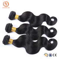 Wholesale Smooth Waves Hair - Grade 8A Virgin Peruvian Human Hair Extensions Wet Wavy Body Wave Hair Extensions 3Pcs Lot 100g MoreThicker Hair Natural Color Soft Smooth