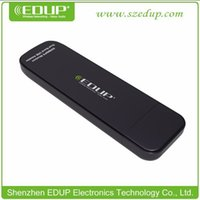 Wholesale Dual Band Wireless Adapter - 2017 EDUP USB Adapter 300Mbps Wireless Wifi Network Card 2.4G 5.8G Dual Band IEEE802.11n Integrated PCB Antenna EP-DB1301 Wholesale