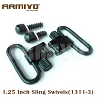 "Wholesale Hunting Gun Swivels - Armiyo 1.25"" 1 1 4"" 31.75mm Hunting Rifles Gun Sling Swivels Wood Screws Fit Most Bolt action Bases Mounted 1311-3 Free Shipping"