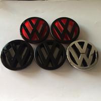 grelha volkswagen venda por atacado-DHL 5 cores 100 pcs Novo Carro 125mm Volkswagen VW Golf 5 MK5 Em Frente Grelha emblema Emblema Auto Logo prata cromado matt brilhante preto vermelho
