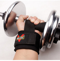 Wholesale Pair Dumbbell Bar - 1 Pair Gym Sport Wristband Fitness Dumbbells Training Wrist Support Straps Wraps With Hand Power Bands Horizontal Bar