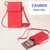 Wholesale Cases For Iphone Cross - 2016 Newest Women Ladies PU Leather Cross-body Mobile Phone Shoulder Bag Pouch Case For iPhone Samsung Universal Seven Colors