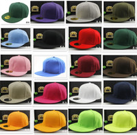 Wholesale Plain White Snapback Hats - 20 colors good quality solid plain Blank Snapback Solid Hats Baseball Caps Football Caps Adjustable basketball Cheap price cap D776