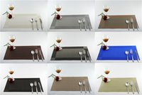 Wholesale Hot Pad Placemats - Wholesale- Hot PVC Placemat for Table Mat Pad Drink Wine Coasters Plastic Dining Table Linens Decor Placemats Table Decoration Accessories