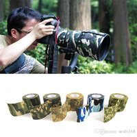 Wholesale Camo Scope - 5cmx4.5m Army Camo Outdoor Hunting Shooting Scope Mounts Tool Camouflage Stealth Tape Waterproof Wrap Durable 5 Color Choose LN-T01