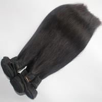 vietnamca saç toptan satış-8A Manikür 100% Moğol Saç Örgü 8-28 inç Düz Doğal Siyah 4 adet / grup Vietnamese Birmanya Kamboçyalı İnsan Saç Demetleri Uzantıları