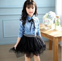 Wholesale Korean Girls Clothing - kid baby spring wear denim skirt two-piece girls' casual Korean clothing,Cuhk TongChao van j6003