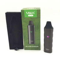 Wholesale Mini Portable Herbal Vaporizer - 2016 VAX AIR Dry Herb Vaporizer Herbal Vape Pen Kit Portable 3000mAh Battery WAX Mini Airzer Elite Pro TC e cigarettes Vapor Mod DHL FREE