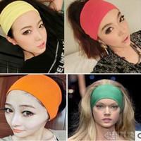 Wholesale Stretch Twist Headband - By DHL 2016 New fashion Women Stretch Twist Wide Headband Turban Sport Yoga Head Wrap Bandana Headwear Hair Accessories