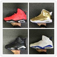 Wholesale Cheap Baskets For Sale - Free Shipping 2016 airs retro 6 cheap basketball shoes Olympic red black Infrared Carmine Sneaker Sport Shoe For Online Sale size 7 - 13