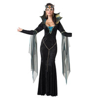 Wholesale Evil Cosplay Costume - Custom Made Once Upon A Time Evil Queen Regina Mills Dress Cosplay Costume Halloween