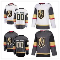 Wholesale Red Gray Hockey Jersey - Custom Vegas Golden Knights #17 29 Fleury Mens Womens Youth 2017 New Brand White Gray Any Name Any Number Stitched Hockey Jerseys S-3XL