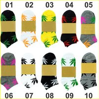 Wholesale Wholesale Shoes For Women Brands - New Short Thick Style Boat Socks Ladies Brand Cotton Athletic sport Shoes Basketball Sock Meias leaf Stockings For Men Women ZJ16-S02