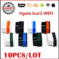 Wholesale Obd Ipad Cable - Free dhl!!10pcs lot OBD2 OBDII OBD Vgate icar2 elm327 wifi diagnsotic interface icar 2 elm 327 wi-fi for IOS iPhone iPad Android