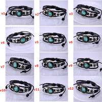 Wholesale Leather Bead Bracelet Wholesale - Twelve stars bracelet jewelry Europe and the United States hand beads jewelry diy constellation moonlight gem foreign trade sources
