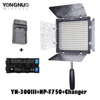 Wholesale Led Light Camera Yongnuo - New Yongnuo YN300 III YN-300 lIl 3200k-5500K CRI95 Camera Photo LED Video Light with 4600mAh NP-F750 Battery with Charger set
