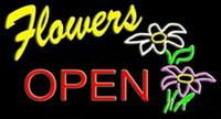 işıklar neon tabelası açık toptan satış-Çiçekler Açık Neon Burcu Işık Çiçek Mağaza Mağaza Market Show Reklam Ekran Burcu Gerçek Cam Tüp Neon 24