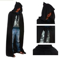 Wholesale Devil Wholesale - Halloween Costume Devils Party Dress Black 1.8M 70inch Elastic Knitted Fabric Death Cloak Adult Designs Drop Shipping Product Code : 96-1049