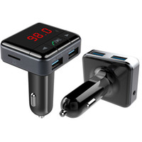 Détecteur de tension de courant BC12B original avec transmetteur FM Kit mains libres Bluetooth mains libres Bluetooth Chargeur USB double charge carte TF