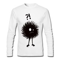 Wholesale Tailor S - Funny design men long-sleeved tshirt white and black match regular tailoring crew neck cotton T-shirt Gothic Wondering Evil Bug
