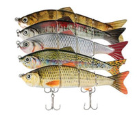 Wholesale Segment Swimbait - Fishing Lures 120mm 17g Segments Multi-Jointed Hard Lure Life-like Swimbait Crank Bait 2 Treble Hooks 3D lifelike eyes