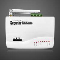 Wholesale Sms Motion Sensor - New Wireless Wired GSM SMS Home Burglar Security Alarm System Burglar Alarm Window Door Contact Remote Control Siren Motion Sensor Alarm Kit