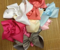 """Wholesale Silk Hair Bows For Girls - 20 pcs lot 8"""" big girl bows, extra large bows, hairbows, birthday gift for girl, back to school bows 30 colors to choose"""