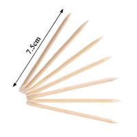 Wholesale Push Sign - Manicure Skin Nail Supplies Wholesale Push Sign Beauty Pegwood Double Stick 100pcs  Bag Orange Stick Free Shipping