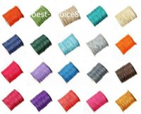 Free ship 150m Waxed Thread Cotton Cord Corda Strap Necklace Rope 1.5MM NOVO