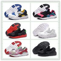 Wholesale Shoe Laces Light Kids - Kids Air Huarache Run Sports Shoes Youth Huaraches Running Shoes Children Trainer Sneaker With Box Size US11C--3Y