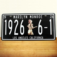 Wholesale Marilyn Monroe Stickers - Marilyn Monroe Tin Plate Vintage Metal Painting Retro Poster License Plate Wall stickers Decoration Home Decor Art Tin Sign
