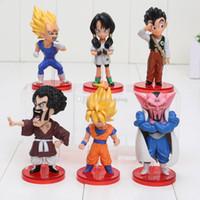 Wholesale Dragon Ball Kai Son Goku - Dragon Ball KAI Episode of Boo Vol.1 Son Goku Vegeta Hercule Dabura Son Gohan Videl PVC Figures Toys about 8cm packed in box