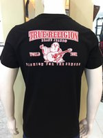 Wholesale Usa Wings - High Quality USA Red Black White Mens Robin Tr Crew T-Shirt With Wings Real American Jeans Mtorcycle Club Slim Short Sleeve Fit tee