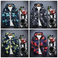 Wholesale Camo Vests - Men's Camo Thin Windbreaker Jacket Men Women Camouflage Thin Coats Korea Style Autumn Men's Hooded Windbreaker