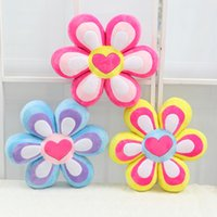 Wholesale Wholesale Valentine Stuff - Wholesale- 40CM One Piece PP Cotton Stuffed Plush Toy Creative Cushion Sunflower Pillow Lovers Sleeping Pillows Valentine Gifts 3 Colors