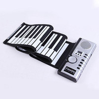Wholesale Roll Up 128 - Flexible Synthesizer Hand Roll up Roll-Up USB Soft Portable Electronic Piano Keyboard 61 Keys MIDI Build in Speaker with CE free shipping