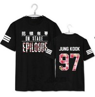 Wholesale Washing Collared Shirts - kpop cat bus shirt BTS bulletproof youth club 2016 tshirt with new star who summer round collar short sleeve T-shirt bts shirts