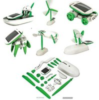 Wholesale Education Kinds - Science One Pack Can DIY 6 Kinds Magic Mini Plastic Solar Energy Powered Education Toys Best Gift Electric robots Toys For chidren Kids