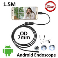 Wholesale Mp Endoscope - Micro USB Endoscope Camera 7mm lens inspection Pipe 1.5M Endoscope Android Phone OTG Function P67 Waterproof HD720P micro USB Camera