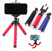 Wholesale Iphone Gopro - Mini Camera Tripods Cell Phone Tripod Octopus Holder Stand Mount with Clip Adapter Universal for Camera Gopro iPhone 7 7 Plus Samsung