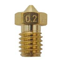 Wholesale Filament Extruder - 10 Pieces 3D Printer Parts E3D V5 V6 M6 threaded Extruder J-Head Brass Nozzle Print Head for 1.75mm Filament