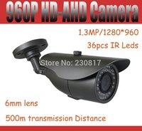 Wholesale Dvr 6mm - 960P AHD Camera HD-AHD Camera 2500tvl 1.3MP waterproof outdoor CCTV Camera 6mm lens For AHD DVR