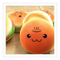 Wholesale Solar Phone Cases - New Hamburger Squishy Hand Wrist Toy Squishies Slow Rising Squeeze Toy Stress Squishies Slow Rising Christmas Gift Phone Case Free Shipping